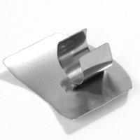 Single / Double Finger Guard Mes Cut Fingers Protection Tool Rvs Hand Protector Multifunctionele Keuken Gadgets Gereedschap CCF7371