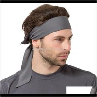 Wraps Hats, Scarves & Gloves Accessories Drop Delivery 2021 Fashion Men Sport Bandanas Sweat Sweatband Headband Yoga Gym Band Hair Outdoor Sp