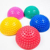 Neu aufblasbare Halbkugel Yoga Bälle PVC Massage Fitball-Übungen Trainer Balancing Ball für Turnhalle Pilates Sport Fitness 1258 Z2