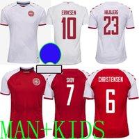 2020 덴마크 축구 유니폼 Eriksen 2021 Schmeichel Kjaer Christensen Skov Delaney Braithwaite DBU Home 멀리 3RD DALSGAARD LOSSL Strger Yurary Football Shirts