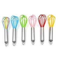 Silikon Whisk mit Edelstahl Griff Ei Werkzeuge Butter Butter Mixer Küche Whisking Teig