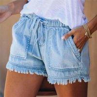 Women's Shorts Fashion Women Denim Jeans All-Match Sexy Summer High Waist Short Lady Push Up Skinny Slim