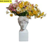 Vases BAO GUANG TA David Head Vase Pencil British Girl Art Sculpture Resin Craft Home Decor Flower Arrangement Pot R5431