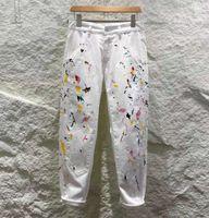 2021SS пользовательские мужские дизайн Paris Италия Демин тощие джинсы для мужчин и женщин брюки ZDLD0509