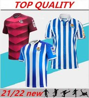 2021 2022 Real Sociedad Home Alejed Fútbol Jersey 21/22 Camiseta de Fútbol Oyarzabal Silva Isak Januzaj Football Shirt