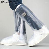 Sandals Cycling chaussures couvre les bottes de suralimentation couvrant des relecteurs imperméables pluie noir hommes réutilisables hommes femmes moto vélo Toutes les saisons1