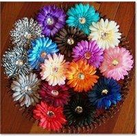 クリップベビーヘアー弓とガーベラデイジーの花ワニのグリップ女の子のアクセサリーのバレット