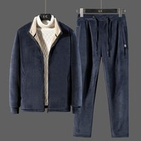 Men's Tracksuits Men Winter Fleece Sets Mens Fashion Thick Hoodies+Pants Suit Man Sweatshirt Sportswear Male Sweatsuits Plus Size 8XL