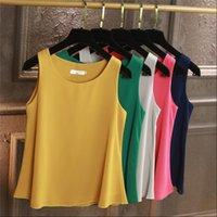 100% camisas para mujer original Yuanyu Llegada Sin mangas Sin mangas Casual Blusa Casifón de alta calidad Camisa de gasa suelta más Tamaño 6XL O Cuello