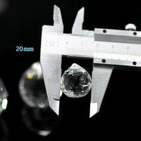 20mm Klarglas Kristallkugel Prisma Kronleuchter Anhänger Perlen Lampe Beleuchtung Tropfen Glas Prismen Hängen DIY CCF6409