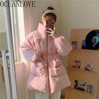 Oceanlove Sweet Rose Femme Parkas Solid 2020 Japon Kawaii Mignon Mignon Vestes d'hiver Femmes Manteaux épais épais dames 190151