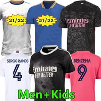 21/22 Real Madrid Football Jerseys Jerseys Version Player Version Football Hazard Sergio Ramos Benzema Asensio Camiseta Hommes + Kids Kit 2021 Quatrième 4ème Humanrace