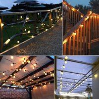String Lamp 2.5 5M Fairy House Garden Lights Outdoor Decoration 10 20 Bulbs Christmas Wedding Party Solar Power Decor Light LED Strips