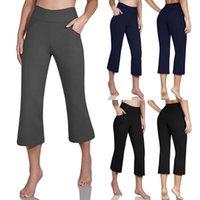 Racing Pants Women's Seamless Yoga Crop High Waist Gym Leggings Breathable Fitness Running Sports BuLifting #PY