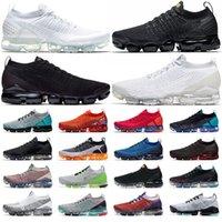vapormax vapor max ABD 2.0 3.0 koşu ayakkabıları üçlü siyah beyaz volt Geniş Gri Saf Platin CNY erkek bayan eğitmenler açık havada spor ayakkabı
