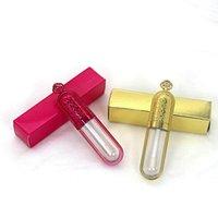 Toptan Plastik Kozmetik Makyaj Ambalaj 5 ml Altın Taç Boş Lipgloss Tüpler Temizle Dudak Parlatıcısı Tüp Şişe Konteyner Ile Kartlar ve Kağıt Kutusu Yok logo