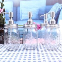 Нажимайте насадку жидкого мыла DIY из нержавеющей стали Mason Jar Насос ванная комната кухни Sizitizer без танка OWA4858