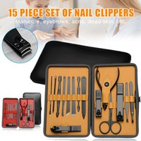 Nail Art Kits Who Manicure Pedicure Set Clippers 15pcs Stainless Steel Kit Tools For Cutter With Portable Case M3