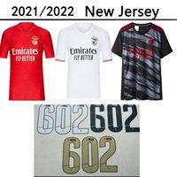 21 22 Benfica Ev Uzakta Üçüncü Futbol Formaları Pizzi Jonas Gabrielb Camiseta Seferovic Zivkovic Salvio Eliseu Fejsa Erkek Futbol Gömlek