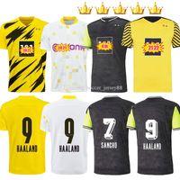 Dortmund Futebol Jersey 2021-22 Borussia 21 21 22 Quarto 4th 2021 2022 Camisa de Futebol Haaland Reus Neongelb Bellingham Sancho Hummels Brandt Homens + Kids Kits Maillot de pé