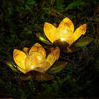 Сторона украшения теплый свет лотос солнечный плавательный цветок ночной лампы украшения для пруда бассейн сад рыбы танк свадебный двор