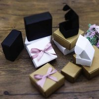 Gift Wrap 10pcs Wedding Party Supplies Kraft Paper Boxes Packaging Box Jewelry Ring Earring