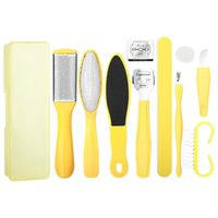 Professional Hand Tool Sets 10Pcs Set Foot Dead Skin Remover Care File Hard Callus Scraper Pedicure Rasp Tools Feet Kit