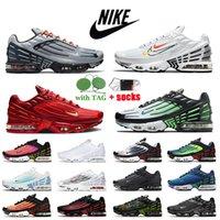 Nike Air Max Plus 3 Tuned Tn 3 Plus Femmes Hommes Chaussures De Course Gris Blanc Crimson Rouge Vert Aqua Laser Bleu Obsidienne Baskets Baskets Grande Taille EUR 46