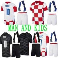 20 21 mandzukic 축구 유니폼 2021 Modric Perisic Kalinic 축구 셔츠 Rakitic Kovacic Mens Kids Kit 유니폼