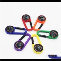 Coloré Mini mousqueton en plastique portable multifonctions multifonctions Compas pour camping randonnée alpinisme boucle LJJZ464 W3RAI GADGETS WOIHL