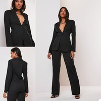 Jumpsuits 2021 Black Mother of the Bride Dresses Pant Suits V Neck Pants Suit Wedding Guest Gowns Long Sleeve Custom Made Mothers Groom Outwear
