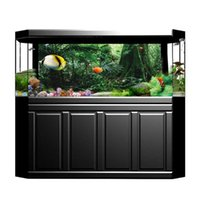 Decoraciones 3D acuario selva tropical poster reptil tanque fondo pintura pegatina de doble cara océano mar plantas fondo decoración de PVC