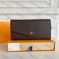 M60531 Sarah Portafoglio Top Quality Blap Blap Blap Blap Portafogli Designer card chiave Portamonete Portabicchieri in pelle Mini Pochette Pochette Pochette con scatola