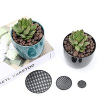 Planters & Pots 500 200PCS Bag Round Flowerpot Mesh Pad Breathable Leakproof Bottom Grid Mat With Drainage Hole Protection Durable Bonsai Ho
