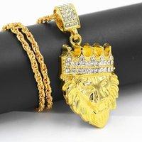 Catene 60cm Neckace maschile collana di moda strass tag hop gioielli accessori regalo pendente catena cubana x7y2