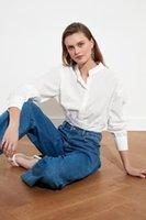 Женские блузки рубашки Trendyol вертикальный воротник рубашка Twoss21go0383