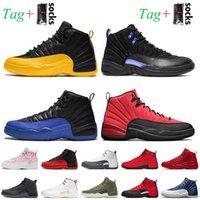 Nike air jordan 12 12s jordan retro 12 농구 신발 Mens Jumpman 12 12s 최고 품질 레트로 대학교 골드 다크 콩코드 리버스 독감 게임 인디고 난소 화이트 블랙 윙 트레이너 스니커즈