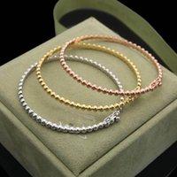 Moda classica fortunata 4 / quattro foglia trifoglio a catena perline perline bracciale in acciaio inox per oro placcato oro S925 argento van womengirls regalo di gioielli di San Valentino di San Valentino