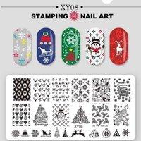 Natale tema nail art timbratura piatti santa snowflake jingle bell chinch timbro manicure con scoria per unghie scoraggiante