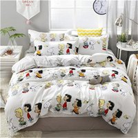 Bedding Sets Winter Set Happy Family Cartoon Printing Duvet Cover Bed Flat Sheet Pillowcase Home Textile
