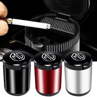 Car LED Ashtray Trash Can Storage Cup for MG 6 GS GT ZT 350 7 5 3 ZR 550 RX5 ZS HS TF Morris Garages Cigarette Holder Acessories 210724