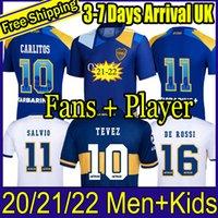 Fans Jogador Versão 21 22 22 Boca Juniors Juniors Jersey Carlitos Maradona Tevez Tevez de Rossi 2021third Home 3rd 4th Tailândia camisa de futebol homens e crianças conjuntos uniforme
