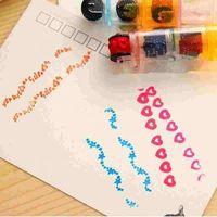 6 шт. 2 набор комбинированные ручки формы штемпель комплекты, циклические роликовые штампы дети DIY Handmade Scrapbook Photo альбом студенты штампы искусств