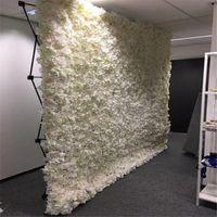 Декоративные Цветы Венки Мода Свадьба Цветочная Стена с Стенд Черный Железный Складной Труба Рамка для Стороны Украшения Поставки