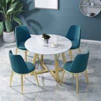 Северные роскошные переговоры сочетание мраморный круглый досуг район продаж офис приемный железный стол и стул