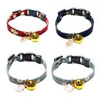Colliers de chat mène style japonais mignon chanceux collier collier collier nœud nœud papillon ajustable chaton chien bijoux de la décoration d'animaux de compagnie
