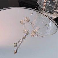 Chains LoveLink Elegant Women White Pearl Necklace Shiny Delicate Rhinestone Alloy Irregular Short Type Jewelry