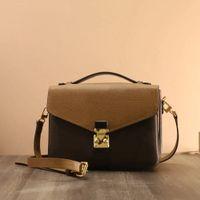 2021 Luxurys Designer Taschen 20 Farben Frauen Handtasche Messenger Bag Oxidation Leder Pochette Metis Elegante Schulter Crossbody Shopping Geldbörse Tote