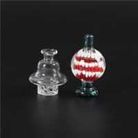 Colorful Clear Glass Spinning Directional Carb Cap With air hole For 25mm Quartz Banger dab oil rigs FY2412