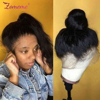 Women's straight wig, 360 front lace, Brazilian natural hair density 250, 8-30 inches, Remy